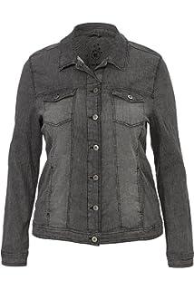 609ba4f730ef Via Appia Due Damen Moderne Jeans-Jacke mit figurformenden Nähten ...