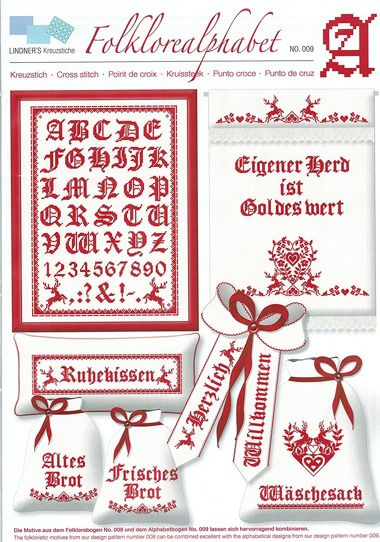 verschiedene Muster Nr. 1 - Bin im Garten Lindners Kreuzstich Z/ählmuster /& Ideenb/ögen
