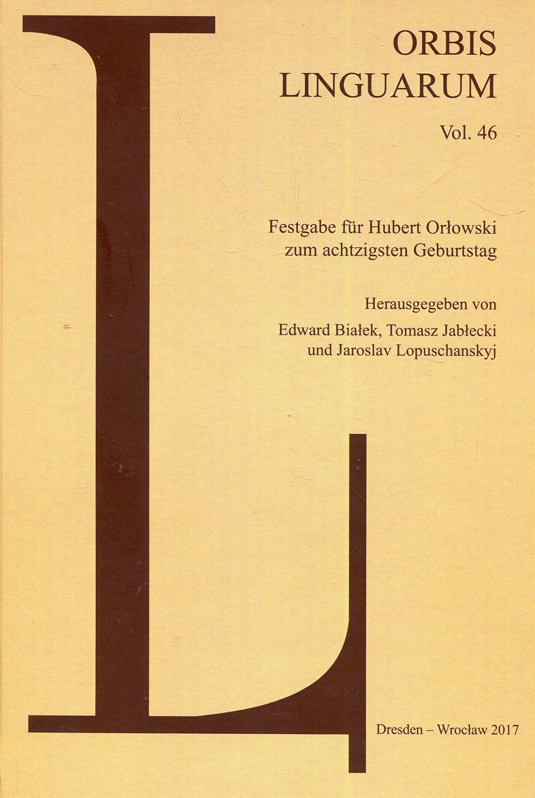 Orbis Linguarum 46 Amazones Edward Bialek Tomasz