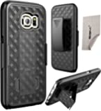Galaxy S7 Case, Samsung Galaxy S7 Case, SGM Shell Holster Combo Protective Case with Kickstand Belt Clip Holster For Samsung Galaxy S7 Case With SGM Microfiber Cleaning Cloth