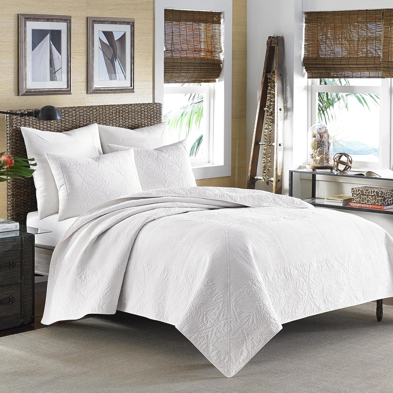 Full//Queen Tommy Bahama Nassau Quilt White