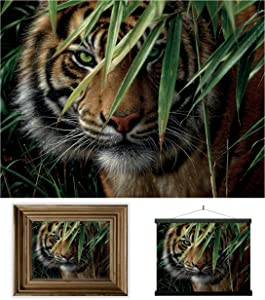 3D LiveLife Lenticular Wall Art Prints - Emerald Forest from Deluxebase. Unframed 3D Tiger Poster. Perfect wall decor. Original artwork licensed from renowned artist, Collin Bogle