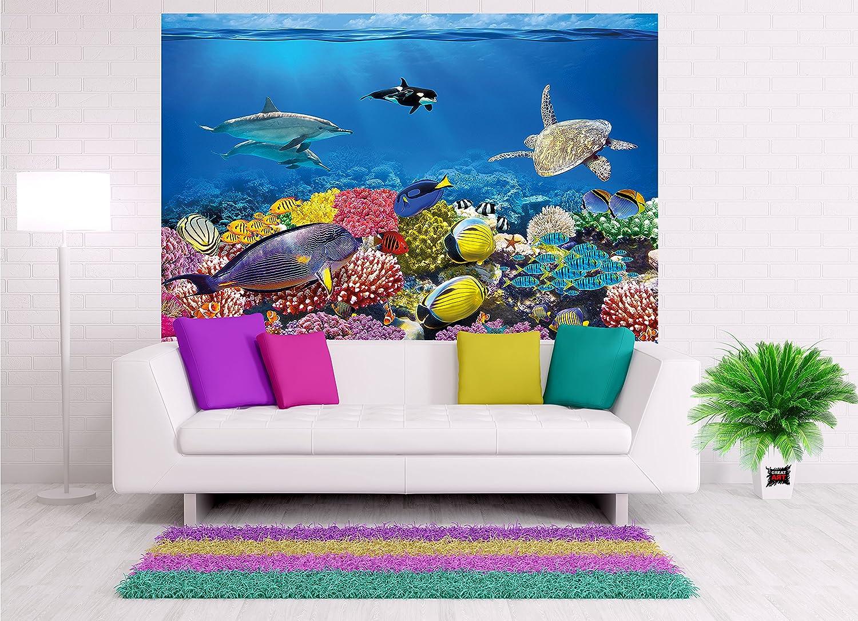 Fototapete Aquarium Wandbild Dekoration farbenfrohe ...