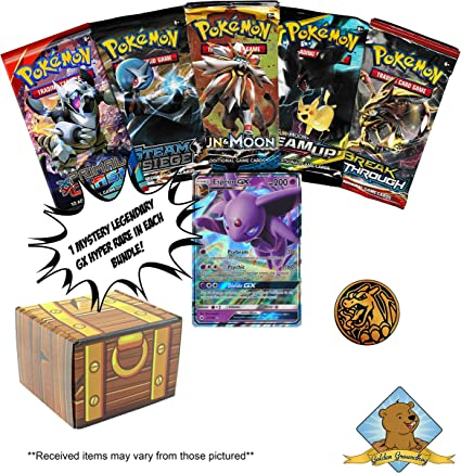 Pokemon Mystery Treasure Box paquete de cartas de comercio – 5 ...