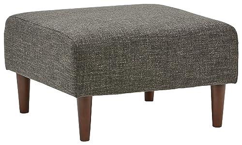 Rivet Ava Mid-Century Modern Upholstered Ottoman