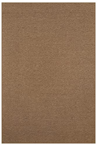 Indoor Outdoor Carpet with Heavy Duty Non Slip Backing Area Rugs Brown – 4 x6