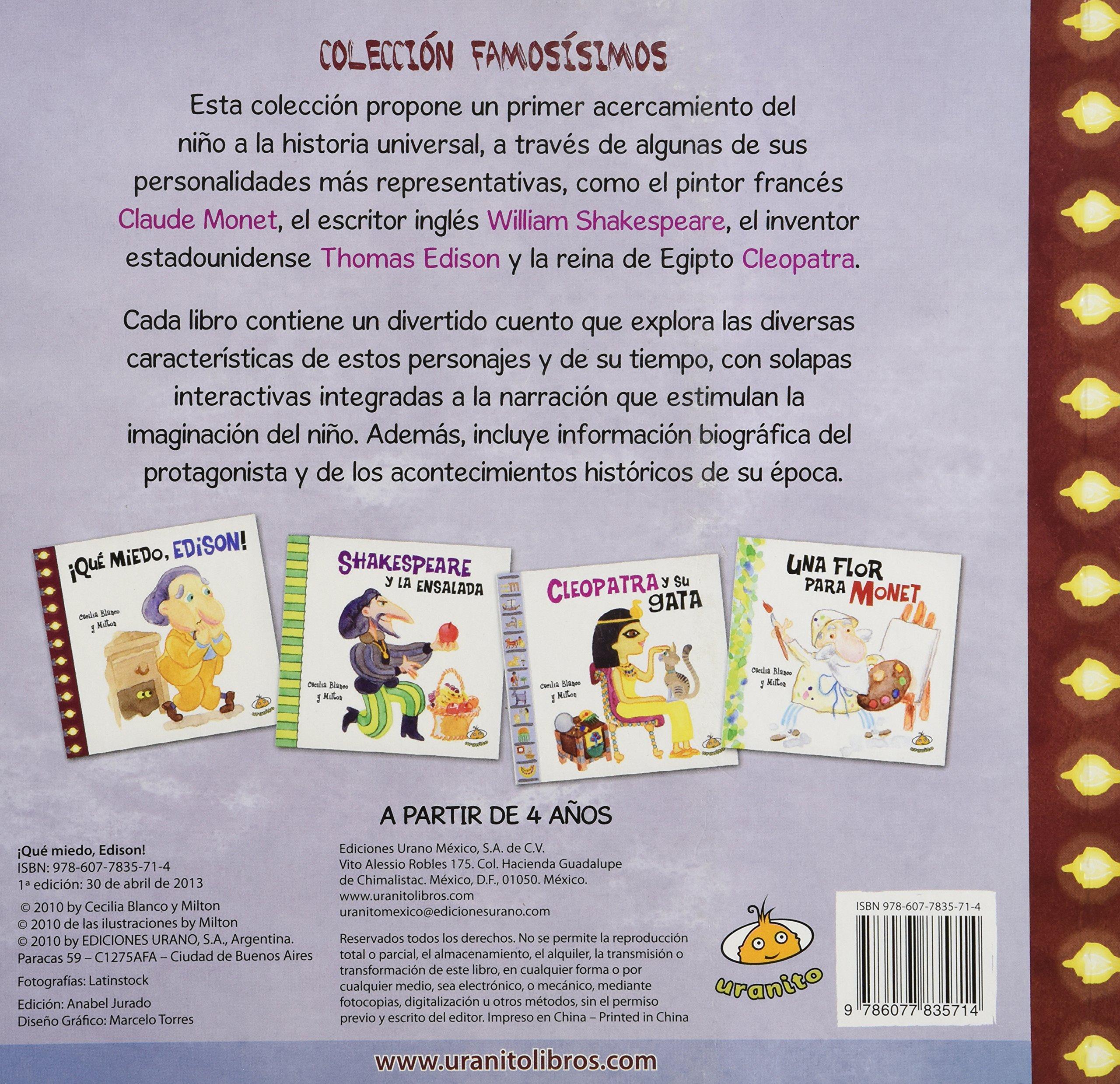 QUE MIEDO, EDISON (MEX C): CECILIA BLANCO: 9786077835714: Amazon.com: Books