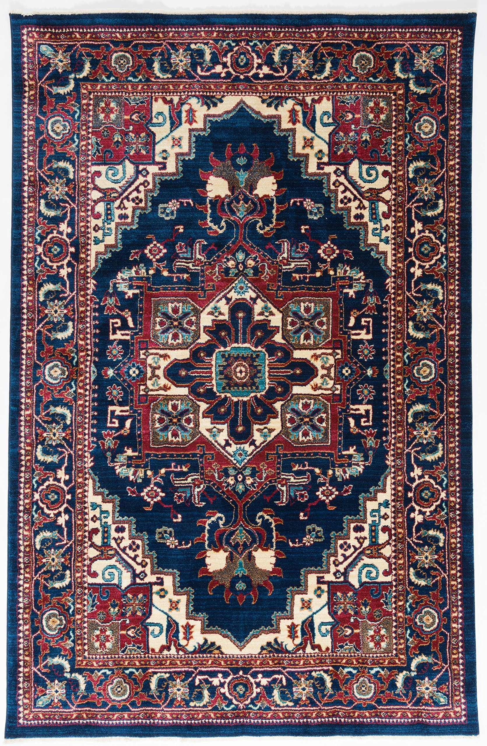 Antep Rugs Wave Collection Tabriz Design Oriental Area Rug