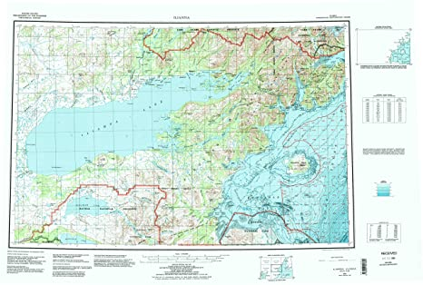 Amazoncom Iliamna AK topo map 1250000 scale 1 X 3 Degree