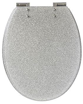 Gelco 709563 Glitter Abattant WC Motif Pailleté Descente Ralentie ...