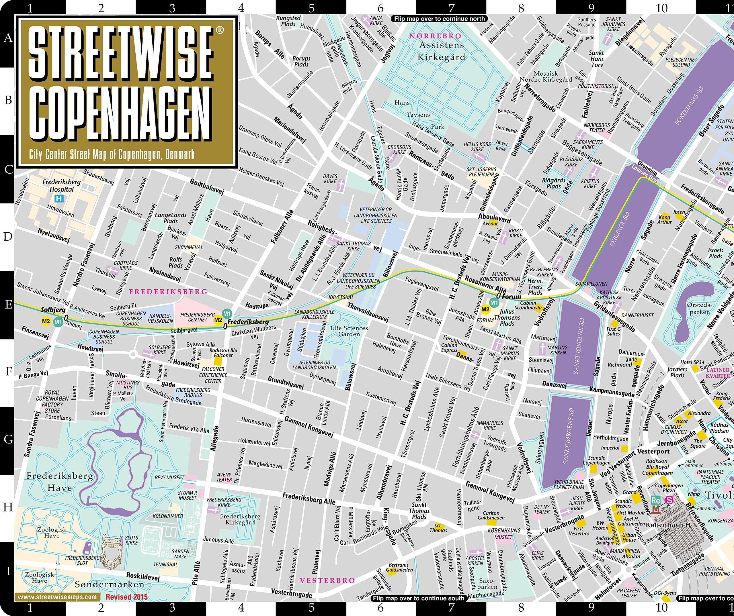 Streetwise Copenhagen Map City Center Street Map of Copenhagen