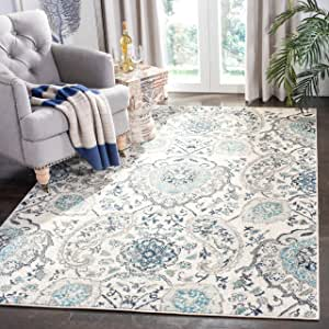Safavieh Madison Collection Mad600c Boho Chic Glam Paisley Non Shedding Stain Resistant Living Room Bedroom Area Rug 3 X 5 Cream Light Grey Furniture Decor