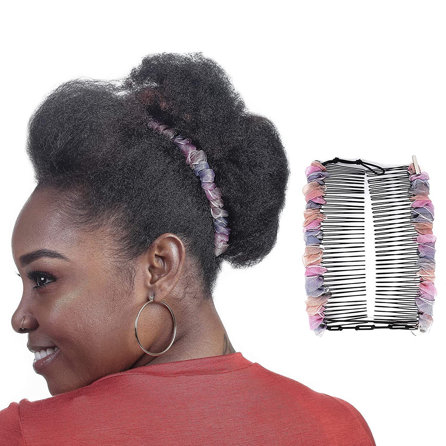 Original Stretch Banana Hair Clip for Thick Curly Hair, Comfy Adjustable  Combs Make Great Hair Accessories for Kinky, Curly Type 15 Hair, Faux Hawks,  ...