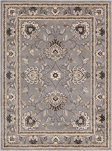 Well Woven Timeless Abbasi Traditional Persian Oriental Grey Area Rug 7 10 x 10 6