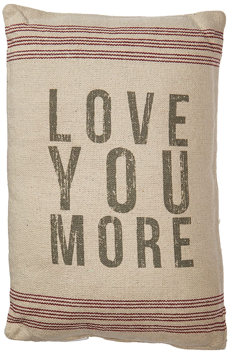 Primitives by Kathy 18293 Striped Pillow, 10 x 15.5, Love You More 10 x 15.5