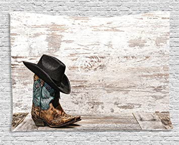 94ee35ecba5 Amazon.com  Ambesonne Western Decor Tapestry