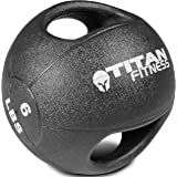Titan Dual Grip Medicine Ball Rubber Sport Double 6 - 20 lb Weighted