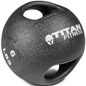 Titan Fitness Dual Grip Medicine Ball