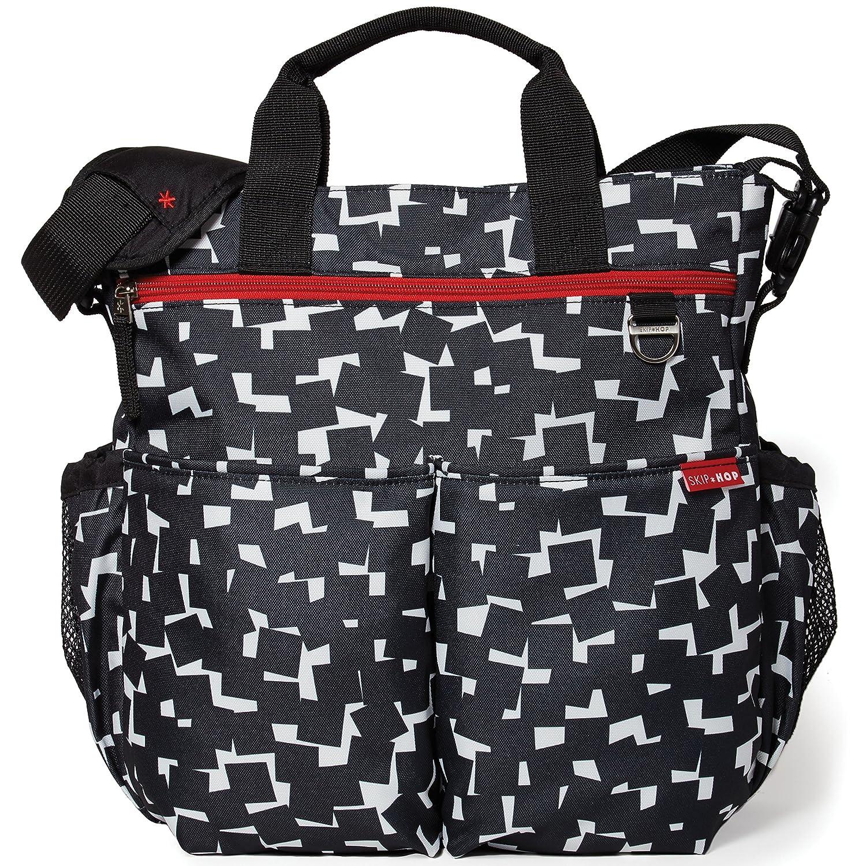 Skip Hop Duo Cubes Signature Diaper Bag, Black/White 200318