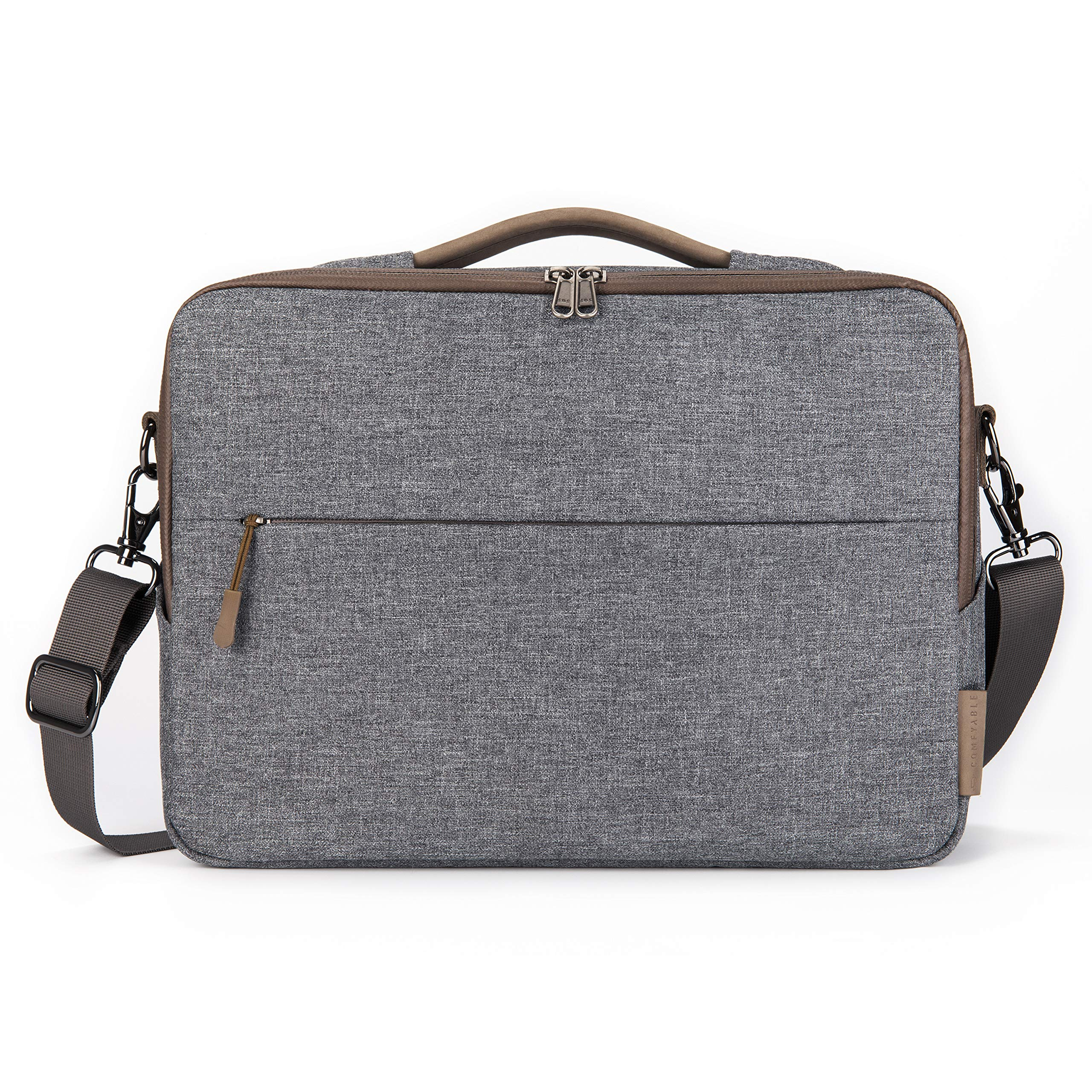 """Comfyable Laptop Bag 13 Inch, Computer Briefcase for Men with Organizer and Shoulder Strap for Travel and Business Shoulder Bag Fits 13.3"""" MacBook, Laptop, Tablet, Cool Grey by Comfyable (Image #1)"""
