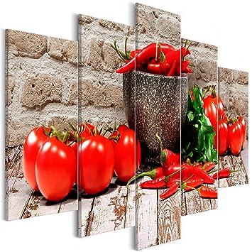 decomonkey | Bilder Küche Gemüse 225x112.5 cm 5 Teilig ...