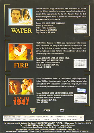 Deepa Mehta Collection - 3-DVD Box Set Water / Earth / Fire River