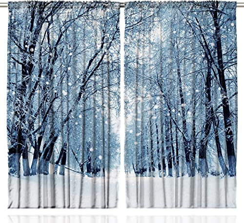 Ambesonne Forest Curtain
