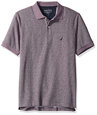 Nautica Mens Classic Short Sleeve Solid Deck Polo Shirt, deep ...