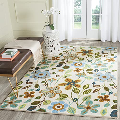 Safavieh Four Seasons Collection FRS429A Hand-Hooked Floral Area Rug - a good cheap living room rug