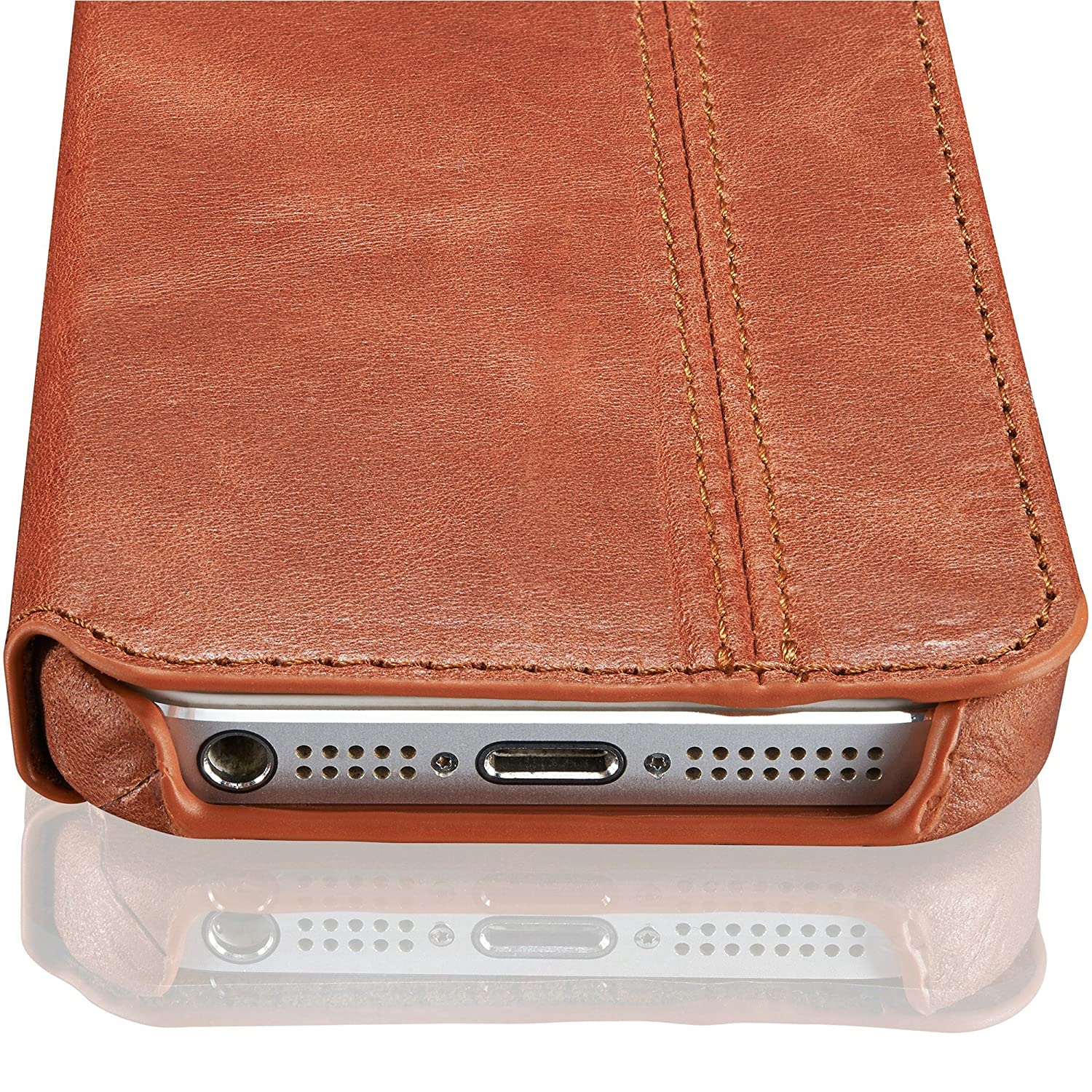 Amazon.com: KAVAJ iPhone SE/5S/5 Case Leather \