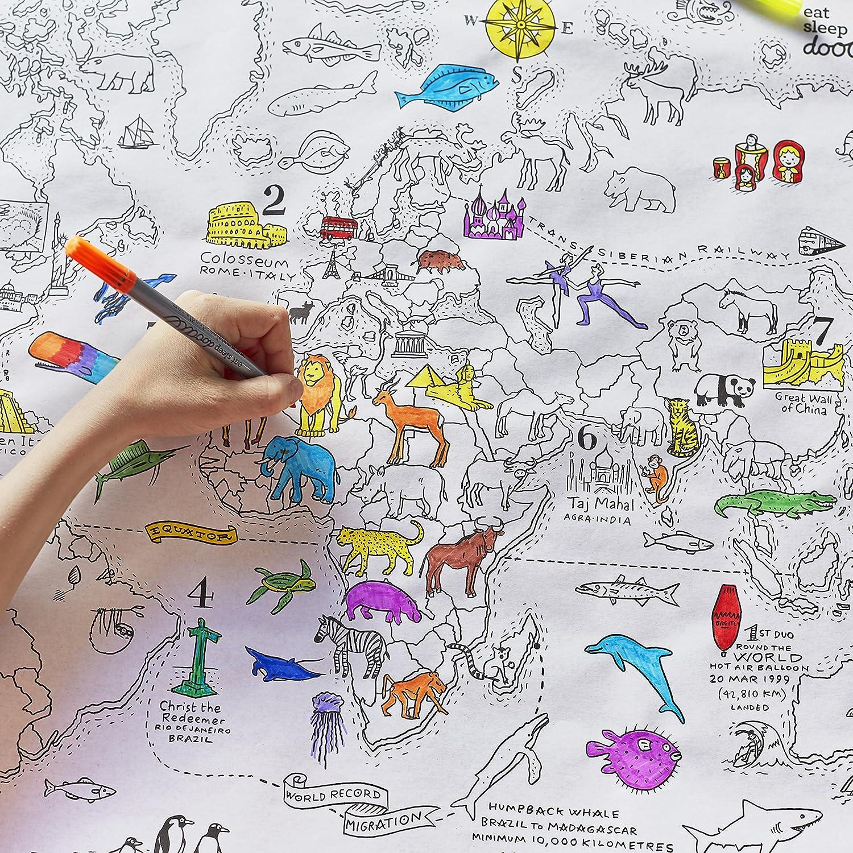 eatsleepdoodle Doodle mappa del mondo Wrap