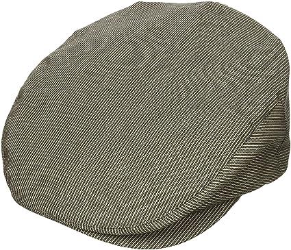 Brixton Men's Barrel Classic Driver Cap, grey stripe, X-Small