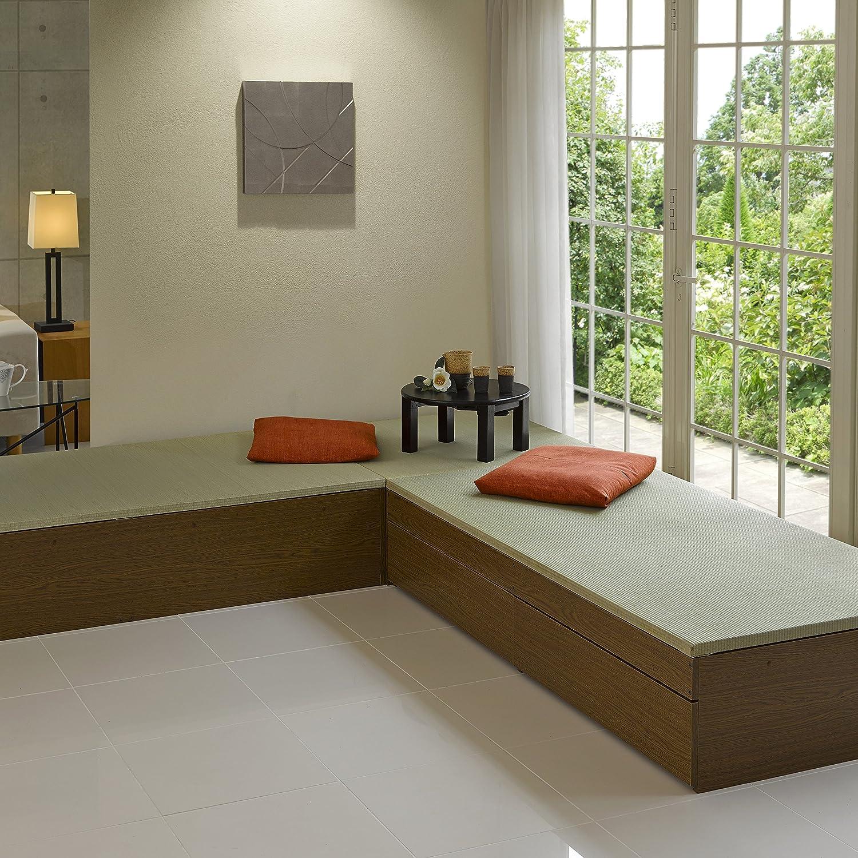 高床式ユニット畳「望」 (80×160 へりなし, ライトブラウン) 80×160 へりなし ライトブラウン B00LL54RJS