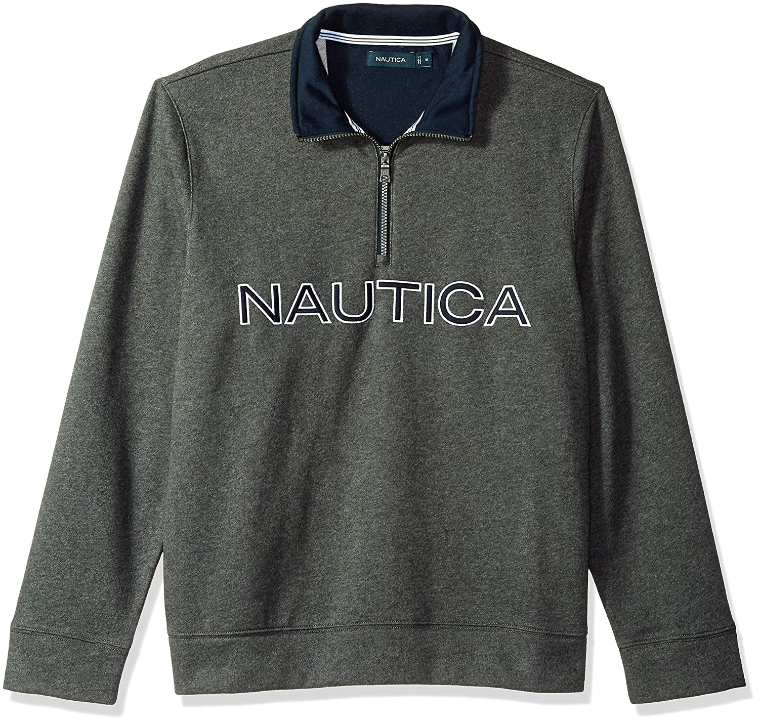 Nautica Mens Chest Logo 1//4 Zip Fleece Sweatshirt