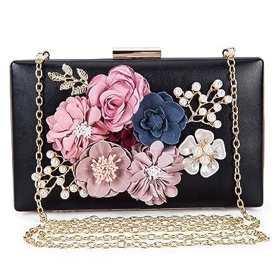 8829b6ad07ba Women s New Evening Handbags Flower Clutch Pearl Bags Wedding Clutch Purse  fit for Cocktail Wedding (
