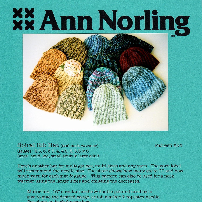 Ann Norling Pattern #54 Spiral Rib Hat