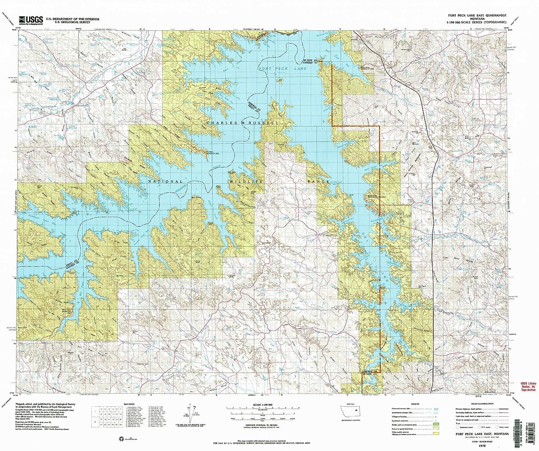 fort peck lake map Amazon Com Yellowmaps Fort Peck Lake East Mt Topo Map 1 100000 fort peck lake map