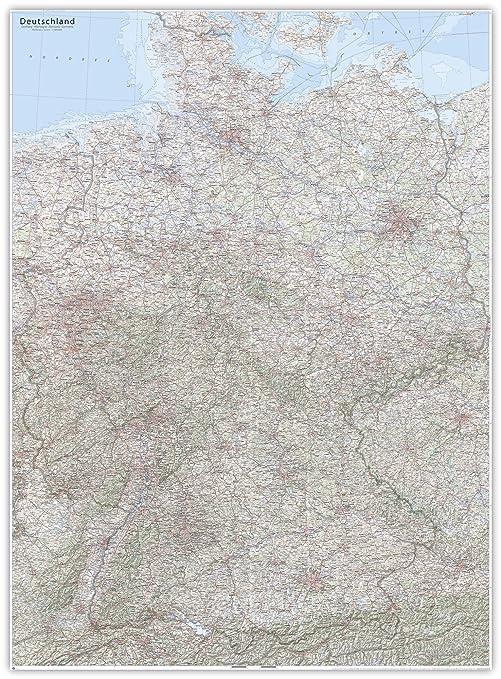 J Bauer Karten Xxl Karte Topographische Karte Deutschland 117 X