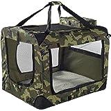 "Lightweight Fabric Pet Carrier Crate with Fleece Mat and Food Bag - Large (27 x 20 x 20"")"