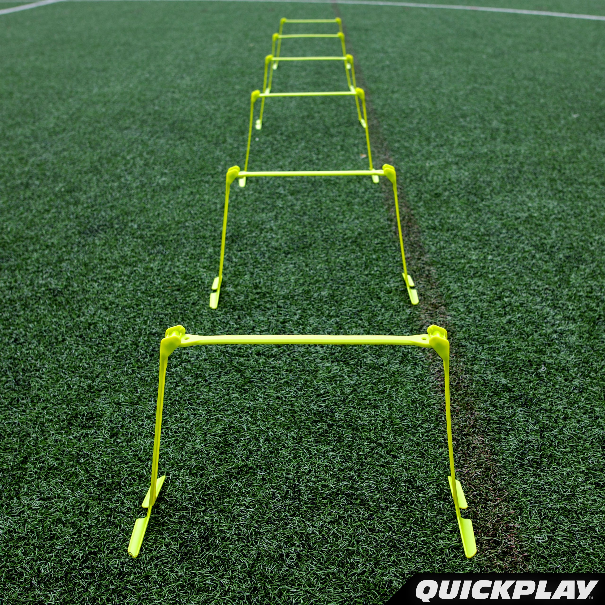 QuickPlay PRO Adjustable Height: 6'', 9'' + 12'' All-in-One Speed Hurdles (Set of 6) Speed Training Hurdles, Agility Hurdles and Plyometric Hurdles by QuickPlay (Image #7)