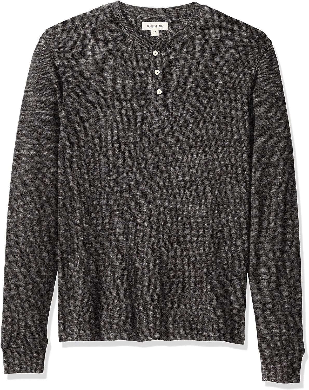 Brand - Goodthreads Men's Long-Sleeve Slub Thermal Henley: Clothing