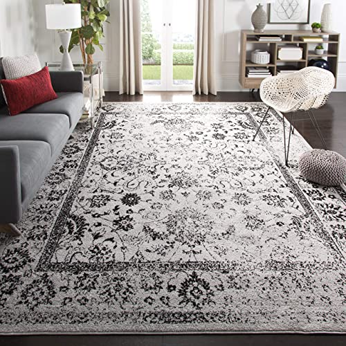 Safavieh Adirondack Collection ADR109B Grey Black Vintage Oriental Distressed Area Rug 11 x 15