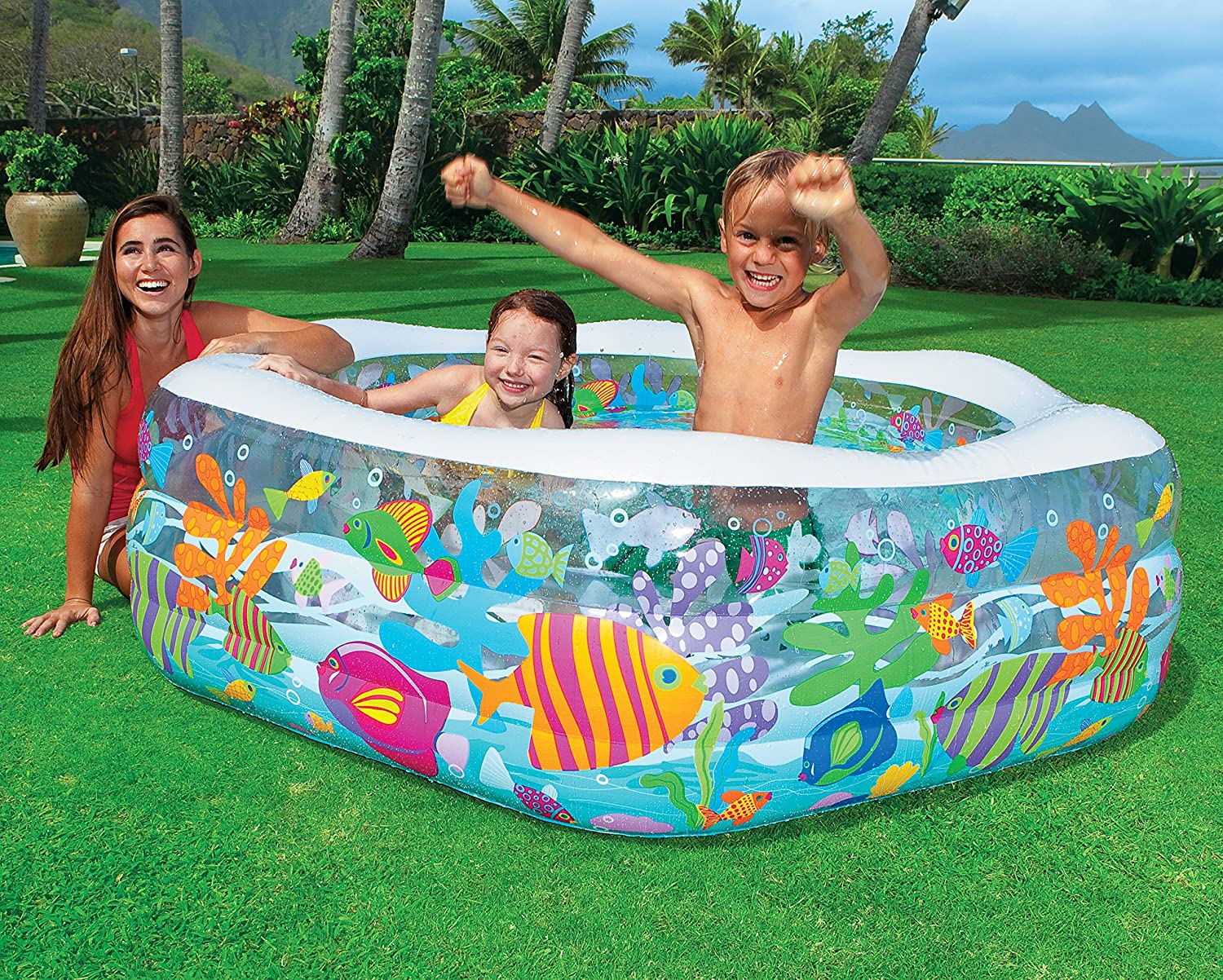 Intex Swim Center Ocean Reef Inflatable Pool, 75