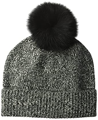 3feb7e9c8ba Amazon.com  Sofia Cashmere Women s Cashmere Fur Pom Hat-Chunky ...