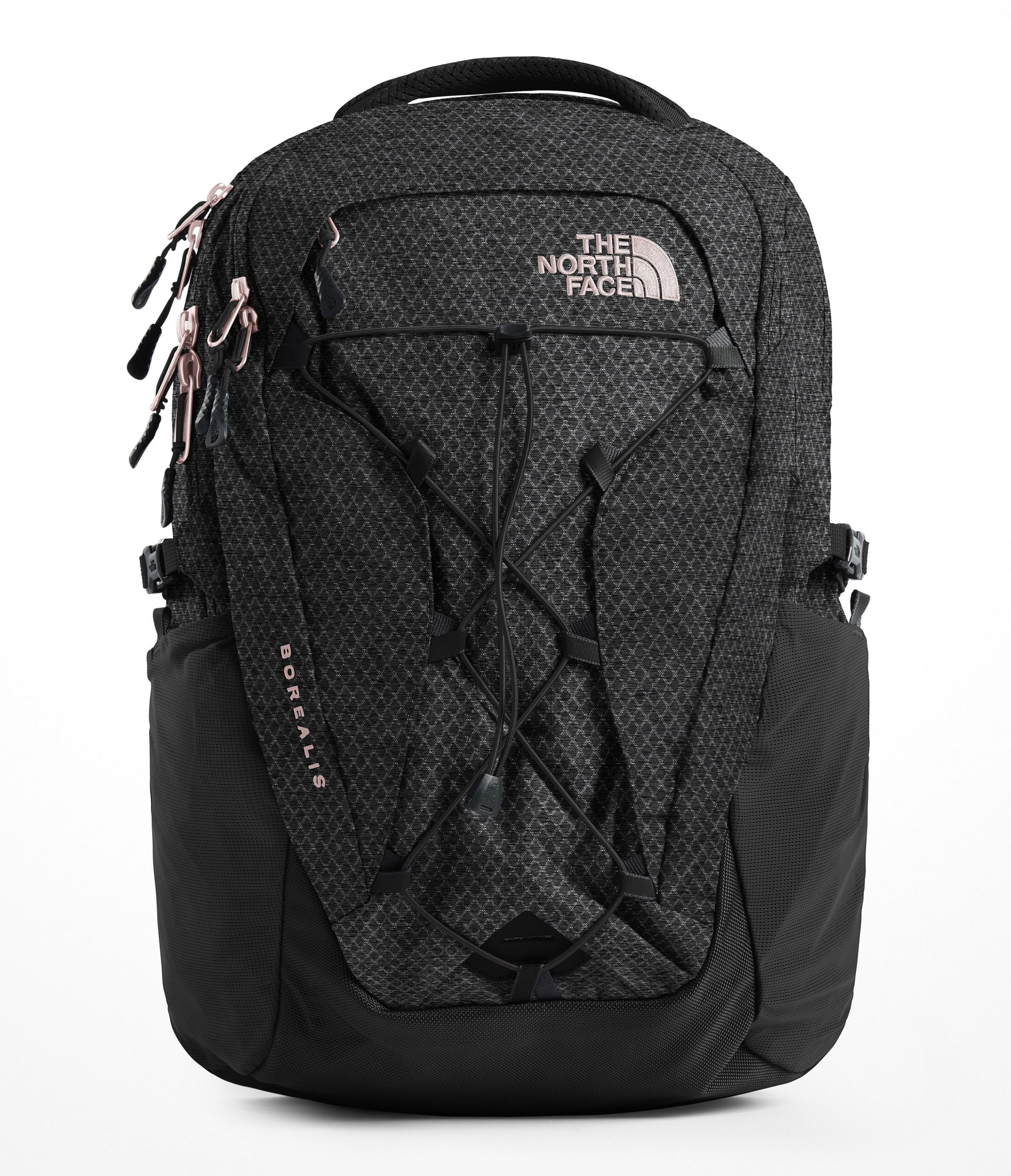 The North Face Women's Borealis Backpack - TNF Black Heather & Burnt Coral Metallic - OS