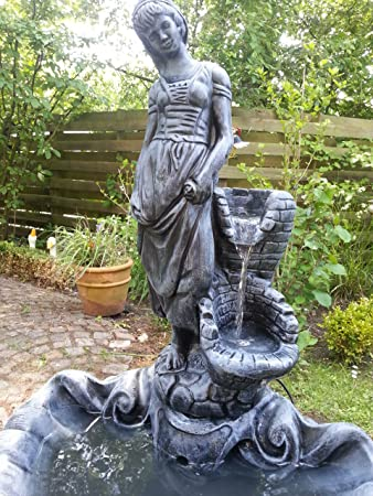 Steinoptik Gartenbrunnen Modell Fräulein Springbrunnen Wasserspiel