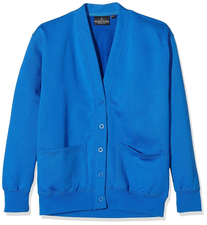 J Masters Schoolwear Unisex School Cardigan Sweatshirt, Bambina Blu (Electric Blue) SW1603