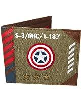 Vintage Canvas Captain America Army Wallet