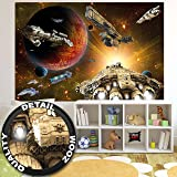Fotomurales Galaxy Adventur – Decorazioni pareti Missionenelle spazio - space-shuttle science-fiction Navicella spaziale Cosmo All SternI Fotomurales by GREAT ART (210x140 cm)