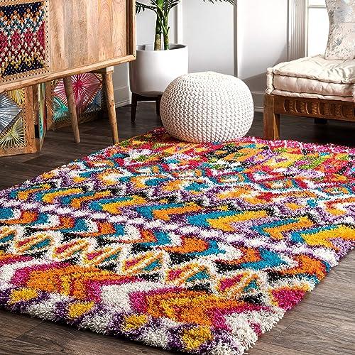 nuLOOM Zhora Moroccan Shag Rug, 5 3 x 7 6 , Multi